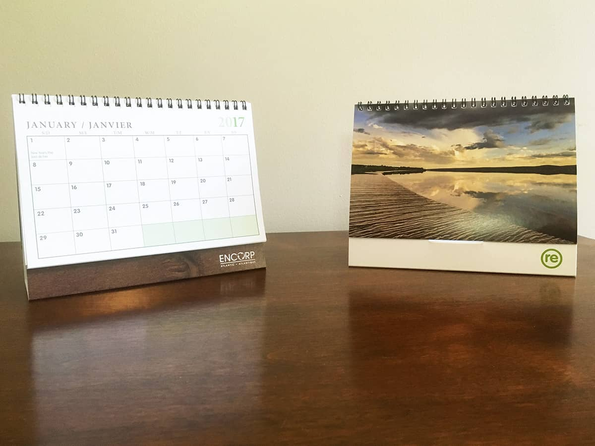Encorp/Re-centre Desk Calendar of the Petitcodiac - Design, Brian Branch