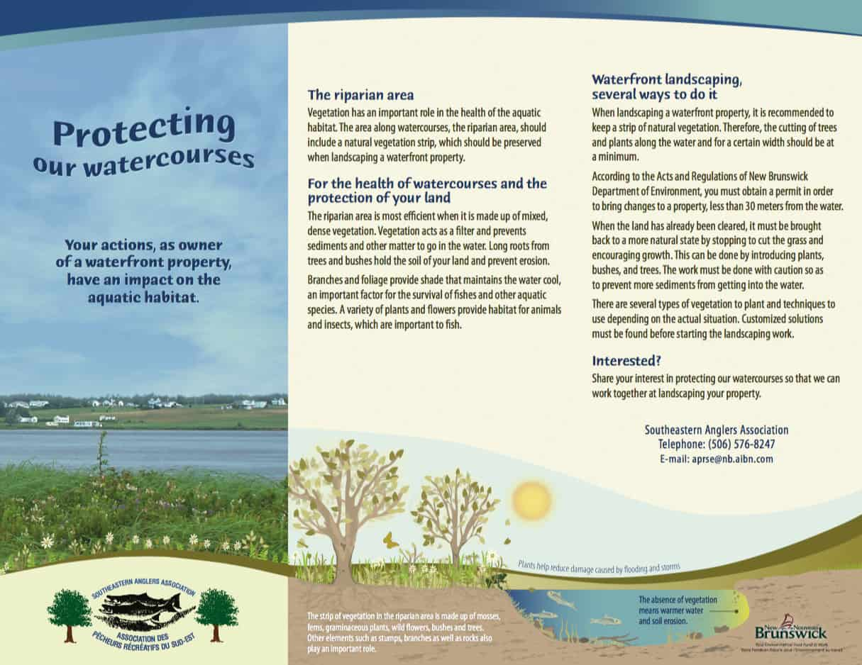 Riverbank protection brochure - Design and illustration