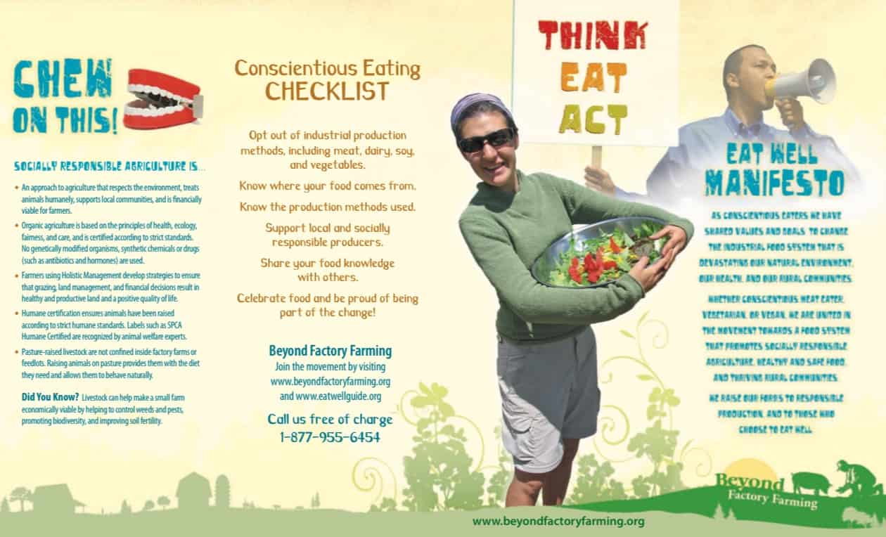 Think-Eat-Act Brochure - Co-writing and design