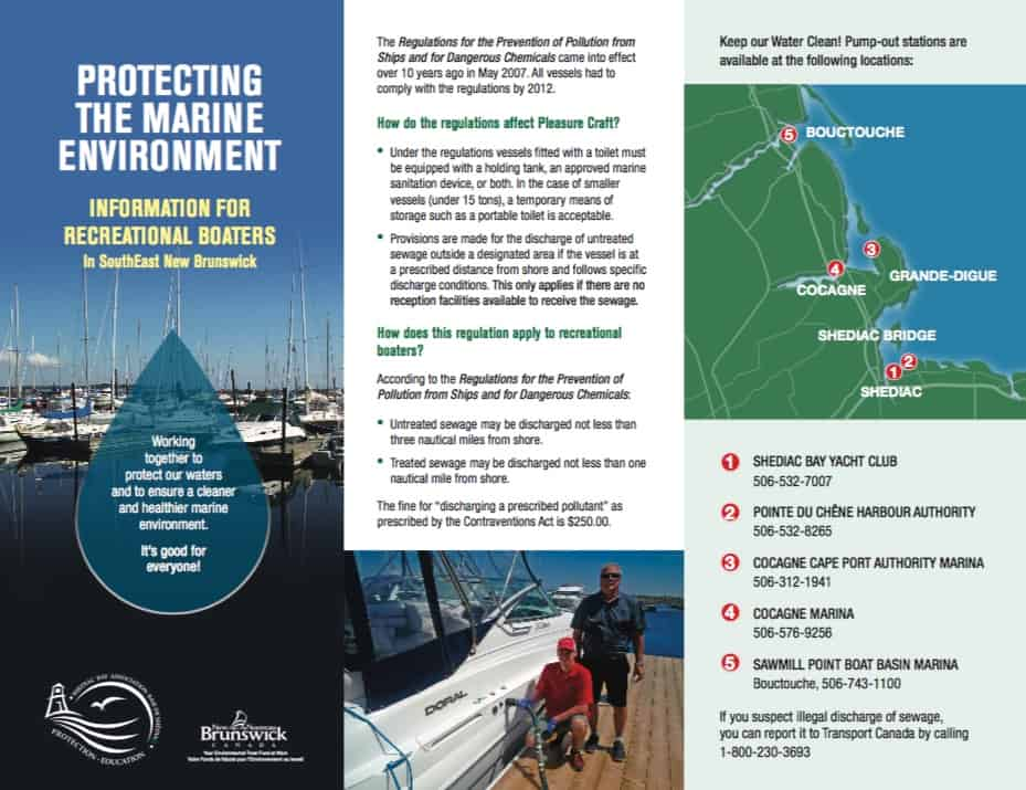 Recreational boaters awareness program brochure - Coordination and writing (Design - Brian Branch, Branchdesign.com)