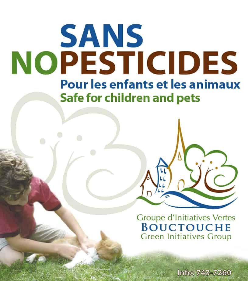 No Pesticide awareness lawn sign - Writing and design of sign and logo