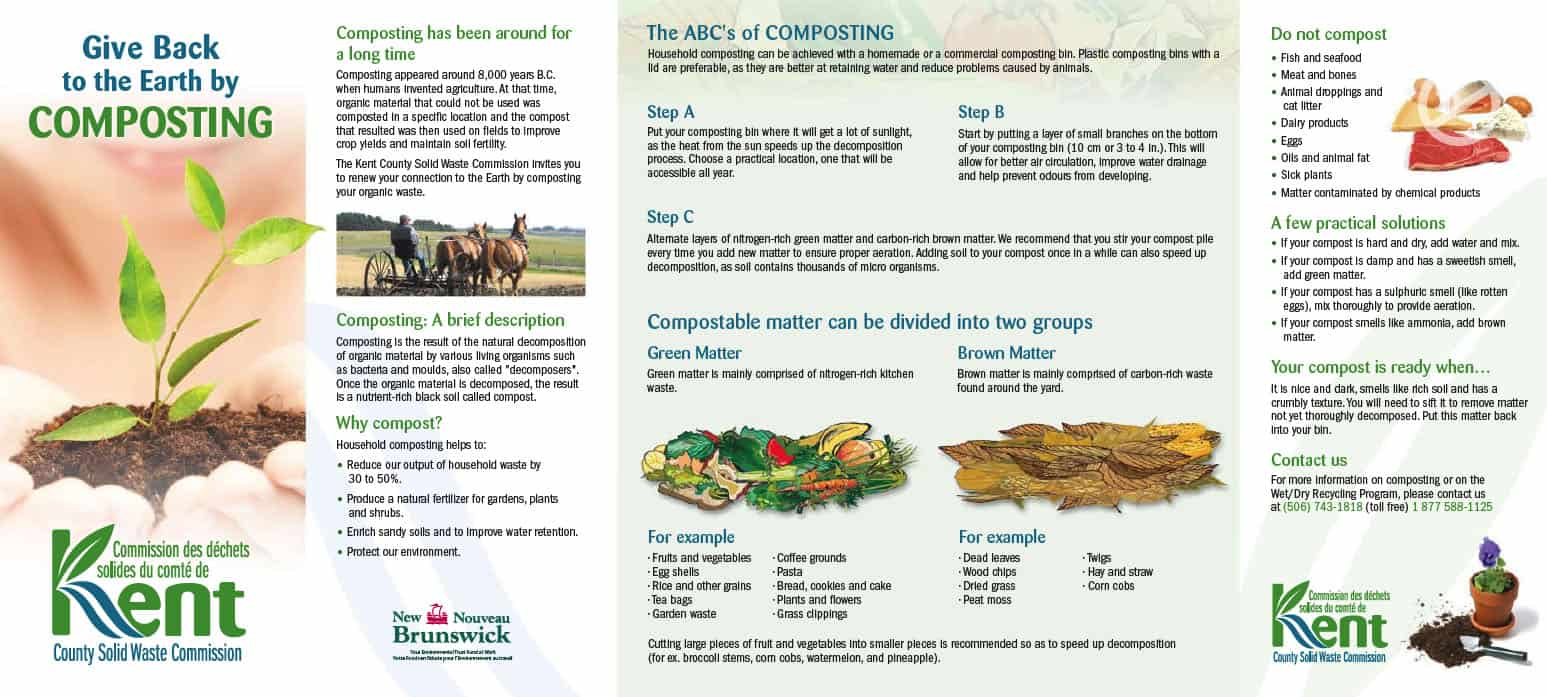 Composting brochure - Co-writing and design (except logo)