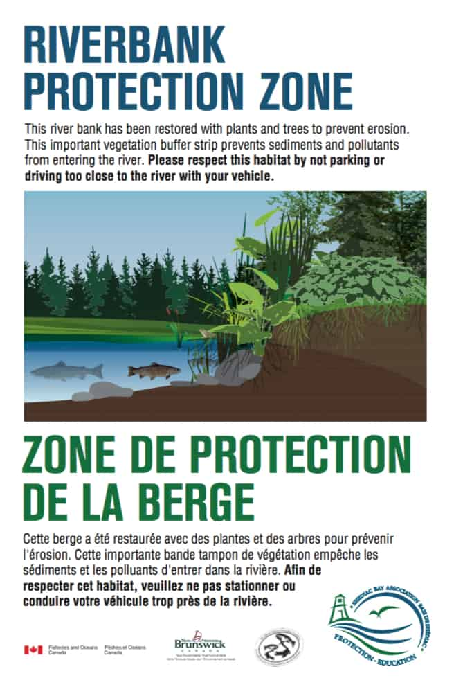 Salmon and trout habitat restoration awareness signage - Coordination and writing (Design - Brian Branch, Branchdesign.com)
